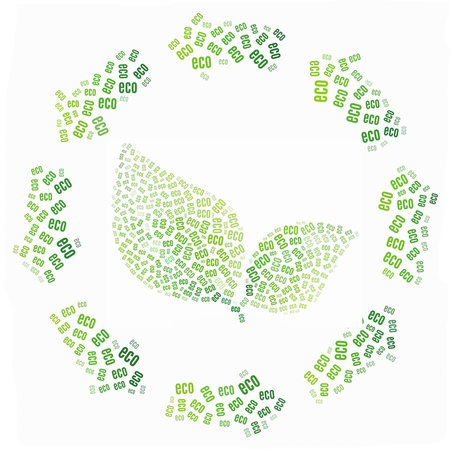 Green and Ecology concept in word illustration Standard-Bild