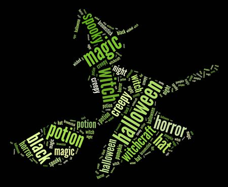 toxic cloud: Witch info-text graphics and arrangement word clouds concept Stock Photo