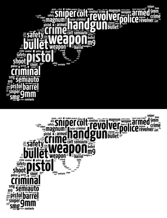Crime and violence words cloud concept Stock Photo