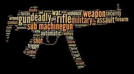 Military and war words cloud concept Standard-Bild