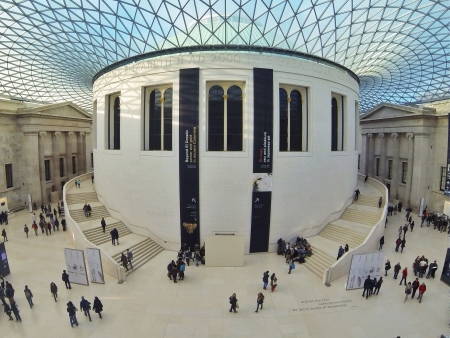Visitors inside the British Museum in London November 16 2013. It is the oldest public museum in the world.