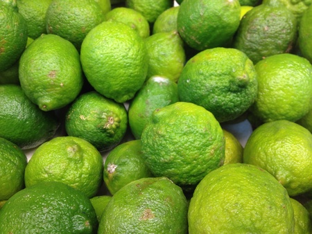 Key Limes on sale at the local supermarket Stock Photo