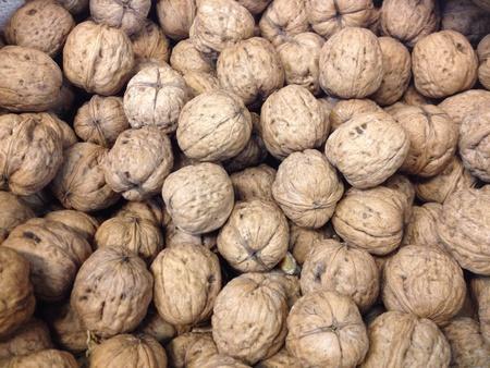 Walnuts on sale at the local supermarket Standard-Bild