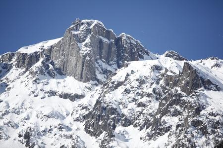 Snow covered Chamonix Mont Blanc Stock Photo