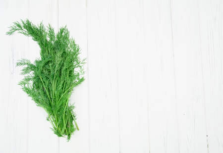 Beautiful juicy fresh fragrant bunch of delicious dill