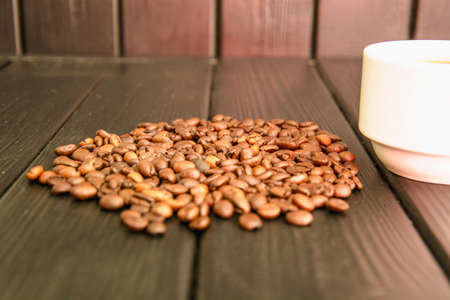 Background of beautiful delicious coffee beans