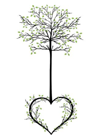 Vector image of tree with heart