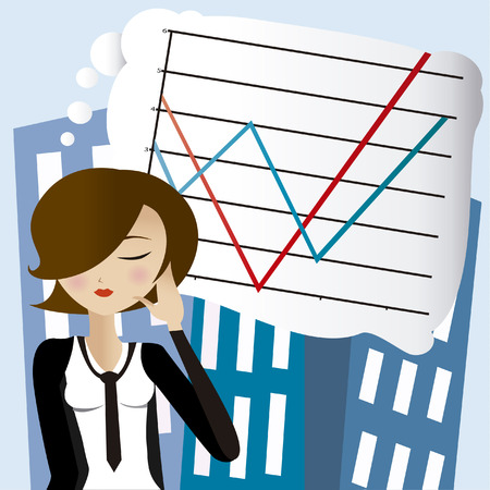 bussines: Vector image bussines woman
