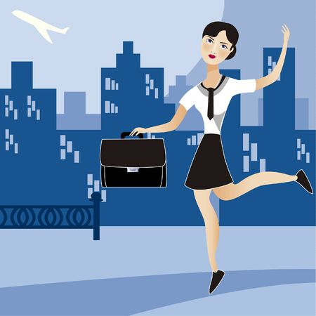 Vector image bussines woman