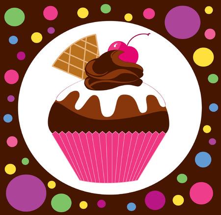 Vektorbild von Cupcake Standard-Bild - 82073407