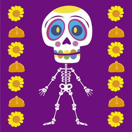 Imagen vectorial con los cráneos