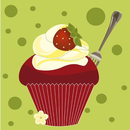 Image of cupcake illustration.