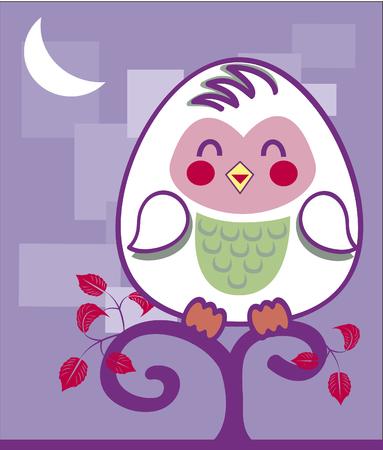 Vector image owl Иллюстрация