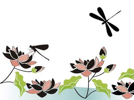 Vector image of dragonflies Фото со стока - 82286027