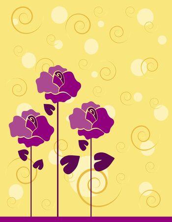 Background flowers Ilustração