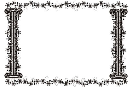 Vector image frame with columns