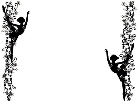 Image frame with ballerina  イラスト・ベクター素材