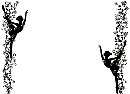 Image frame with ballerina Illustration