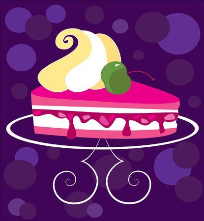 Vector image cake
