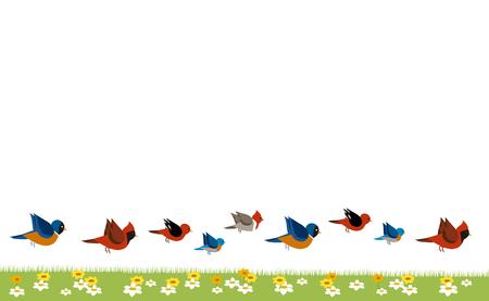 Frame of birds Illustration