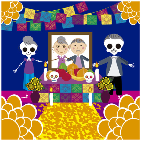 Vector image of day of the dead 16