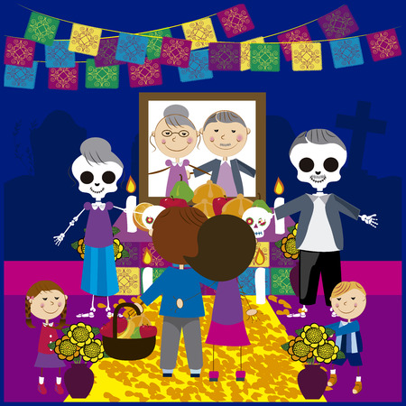 Vector image day of the dead 17 Stock Illustratie