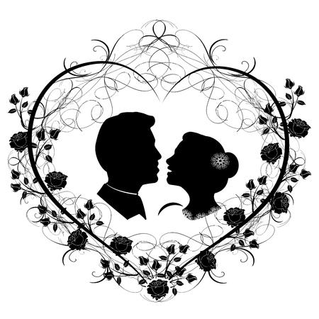 Wedding silhouette 12  イラスト・ベクター素材