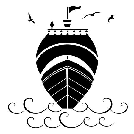 boat in the sea Иллюстрация