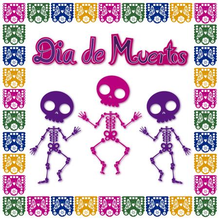 day of the dead skull 2 Illusztráció