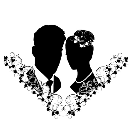 wedding silhouette with flourishes 7