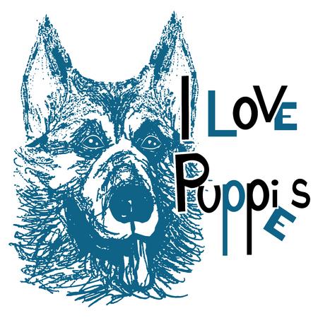 i love puppies Foto de archivo - 122929336