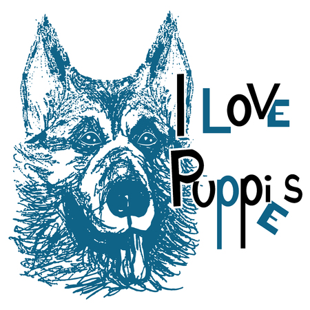 i love puppies Illustration