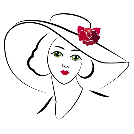 woman with hat 6 일러스트