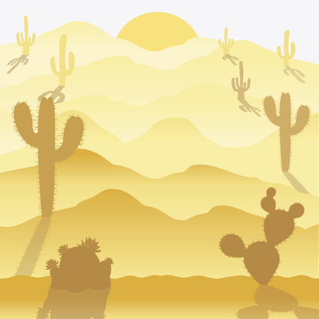 background of a desert