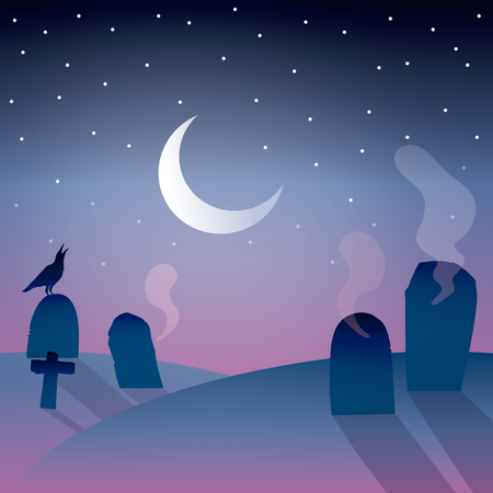 background of graveyard with moon