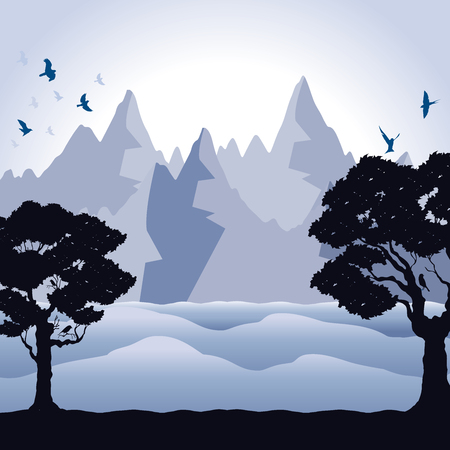background of mountains Ilustração