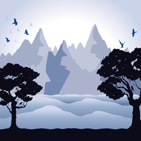 background of mountains Illustration