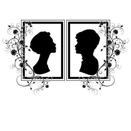 silhouette wedding flourishes