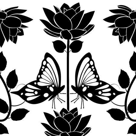 design element flourishes butterflies vintage