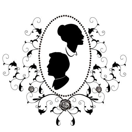 design element frame flourishes wedding