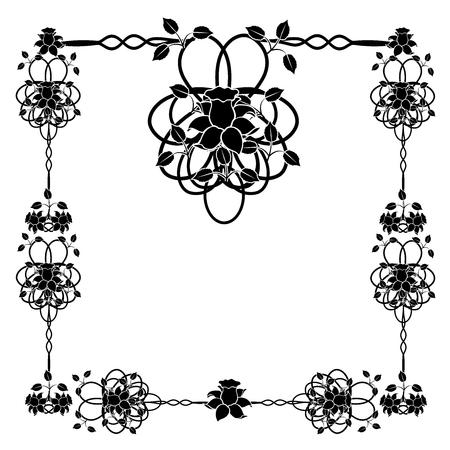design element frame flourishes vintage 1