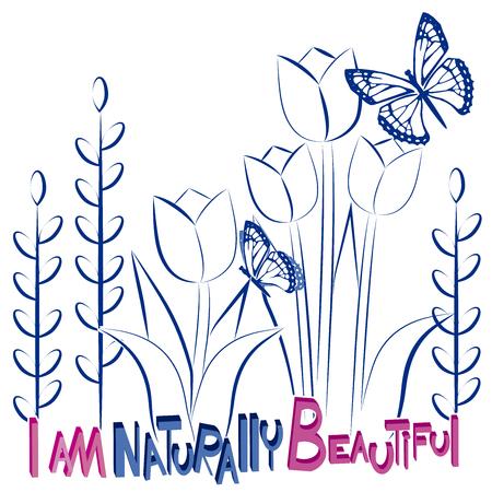 I am naturally beautiful background Illustration