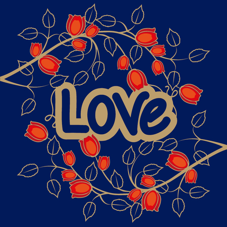 love with flowers background