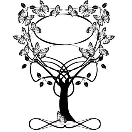 tree frame flourishes