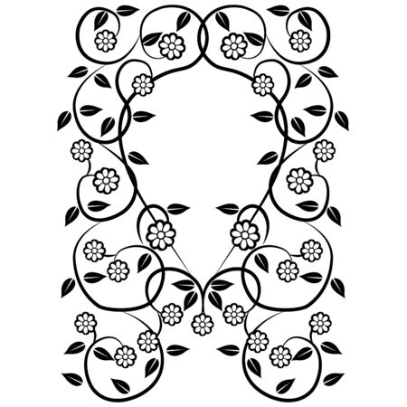 graphic element flowers and frame 3