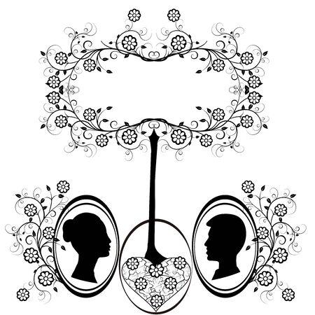 design element wedding heart flourishes 2