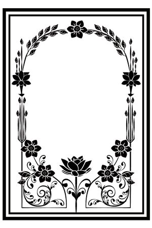 graphic element flourishes flowers frame 3
