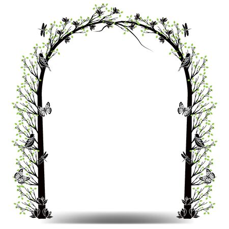 graphic element tree frame gateway Ilustrace