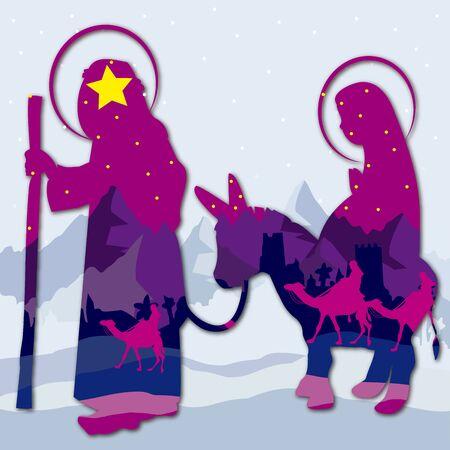 Christmas Nativity Mary and Joseph 1