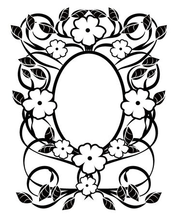 graphic element flourishes flowers frame vintage 3 일러스트